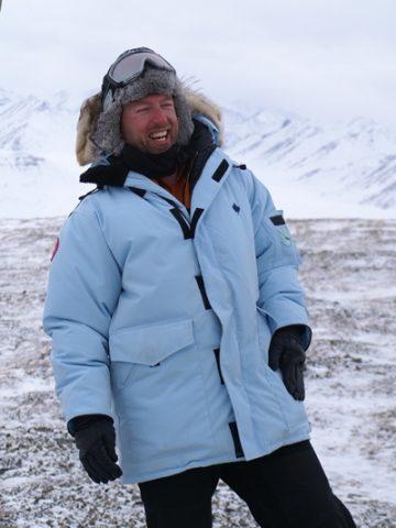 Drew Slater on an April 2009 trip to the Atigun Gorge in Alaska.