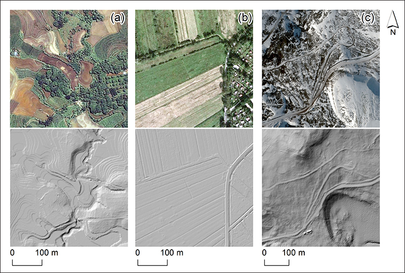 High-resolution geodata reveal the topographic fingerprints of humanity on landscapes in the Philippines, Germany, and Antarctica.