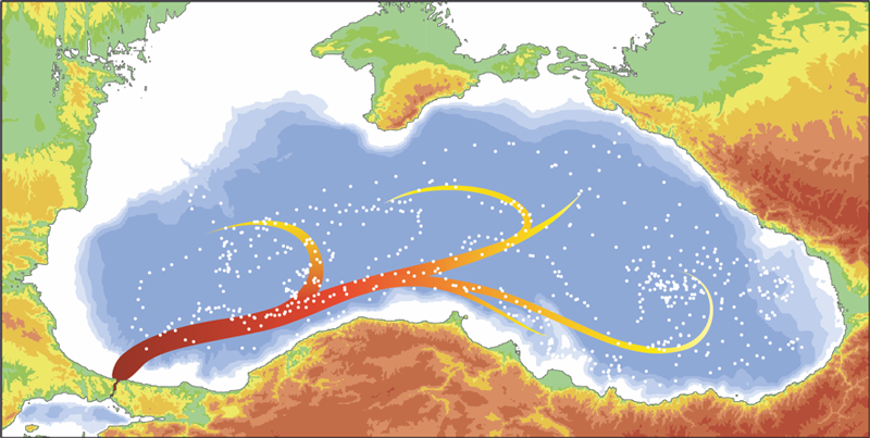 Researchers look at the big picture of processes that occur when Mediterranean waters flow into the Black Sea.