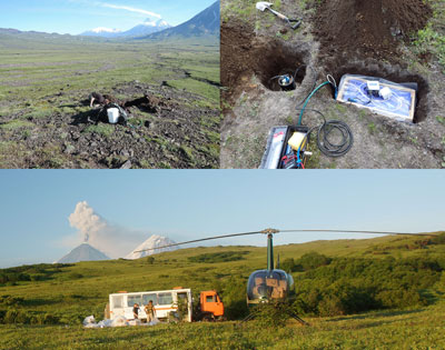 KISS seismic instrument sites were in remote locations near active volcanoes in eastern Russia