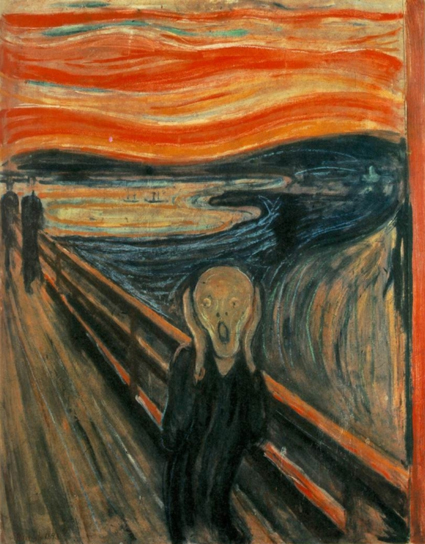 One of four versions of the 1893 painting The Scream, by Edvard Munch.