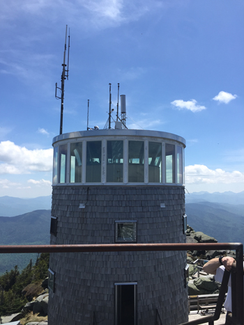 Weather and chemistry sampling station at the top of Whiteface Mountain.