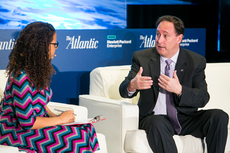 NASA acting administrator Robert Lightfoot in conversation with Alison Stewart of AtlanticLive.