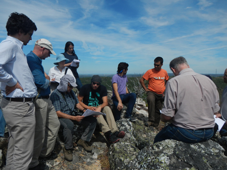 Researchers gather to discuss where to position flux towers for a fieldwork designed to measure wind energy over Europe.