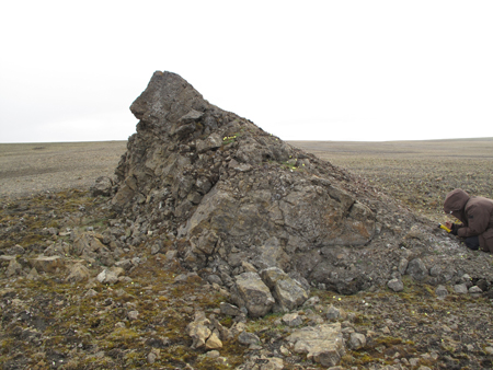 The second ancient methane seep mound the researchers found on Ellef Ringnes Island changed the scope of Williscroft's research.