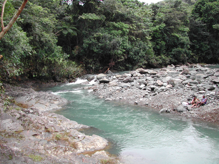 Streams like Rio Mameyes in Puerto Rico flood rapidly and are severely affected by large tropical storms and hurricanes.