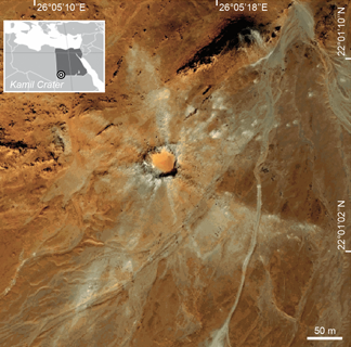 Egypt's newly discovered Kamil impact crater, an example of collaborative research in planetary and space science in Africa.