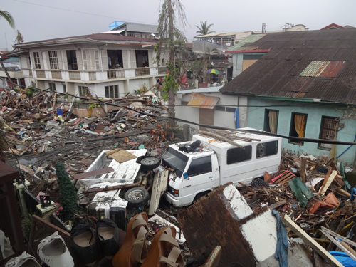 Typhoon Haiyan left a trail of death and destruction in the Philippine province of Samar in November 2013.