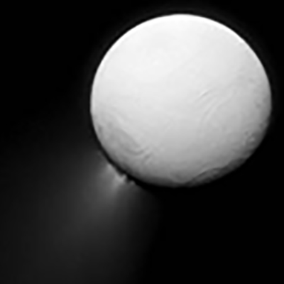 An image of Enceladus's plumes