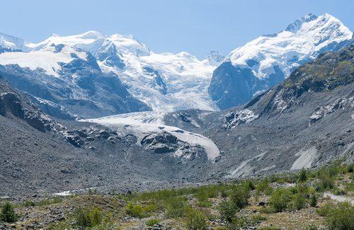Morteratsch glacier, shown here in 2015.