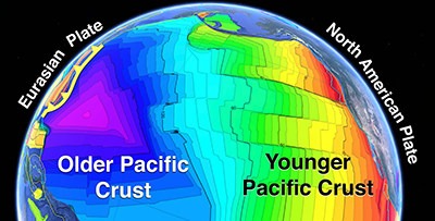 Stop 39 on the Grand Tour of the Ocean Basins looks at the formation of the Pacific Plate.
