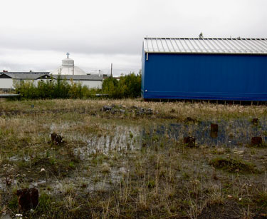 When Inuvik was first settled in the 1950s, pilings were commonly made of wood