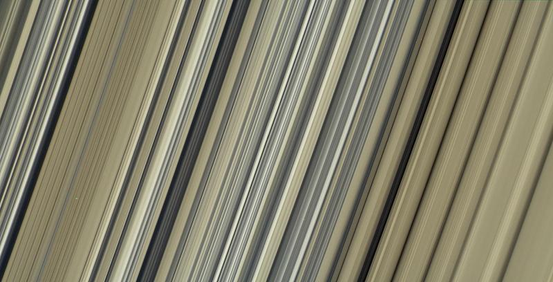 Cassini image of Saturn's rings