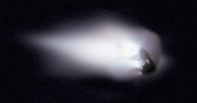 Close-up of Halley's comet.