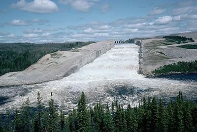 James Bay Project Dam Spillway