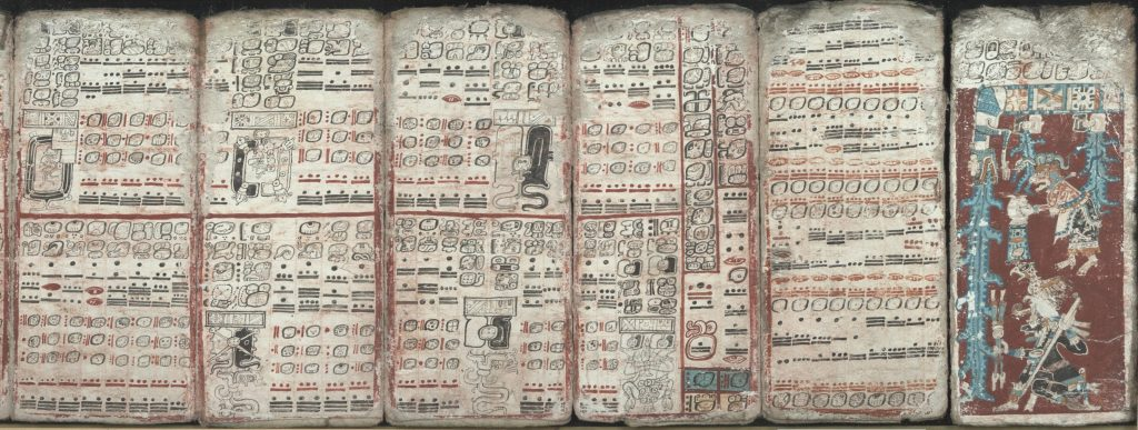 The oldest surviving Maya codex, the Dresden Codex