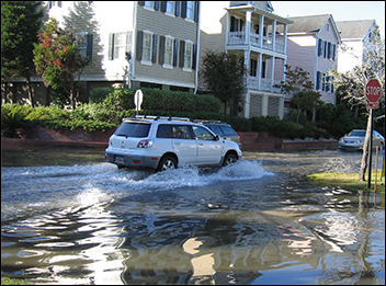 Flooded street in Charleston, S.C.