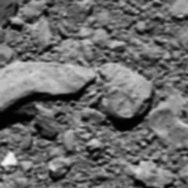Rosetta's final image, snapped shortly before the spacecraft's controlled crash