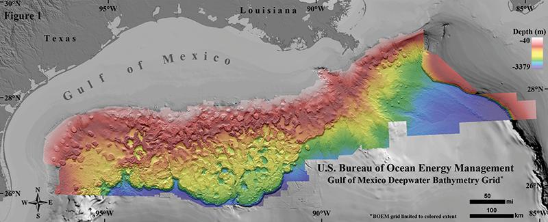 High resolution Gulf map