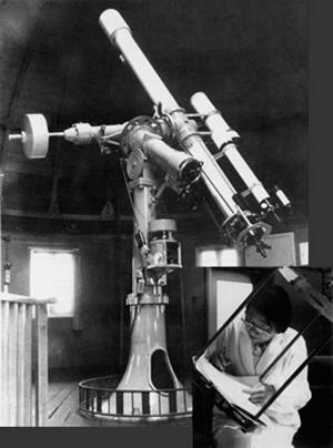 Ms. Koyama at the telescope