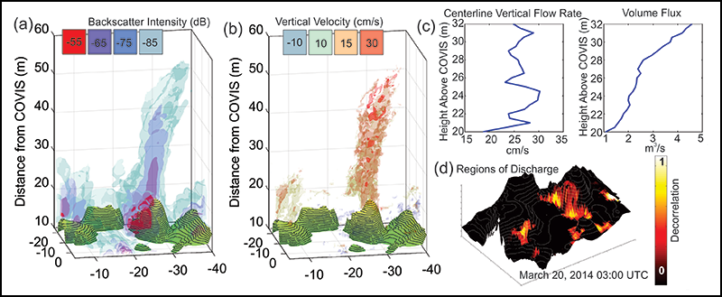 Example of one 3-hour instance of COVIS data at Grotto vent, Main Endeavour Field, Juan de Fuca Ridge.
