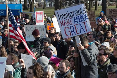 Immigrants make America great protest
