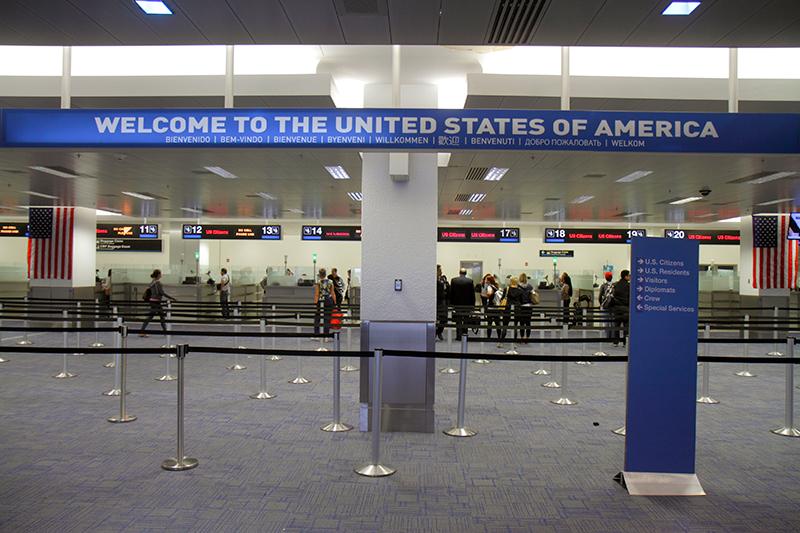 Passport control at Miami International Airport