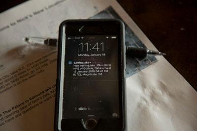 Wireless Emergency Alert text message