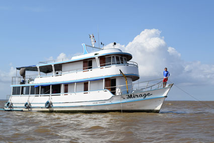The Mirage traversed the Amazon River, making continuous measurements of CO2, methane, and other geochemical parameters.