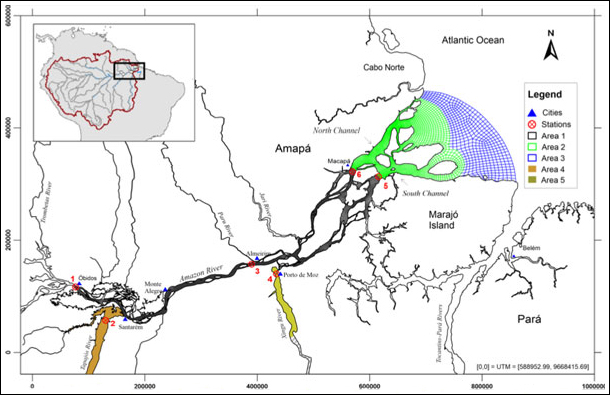 We studied waterborne organic matter in the Amazon River from Óbidos to the mouth of the river.
