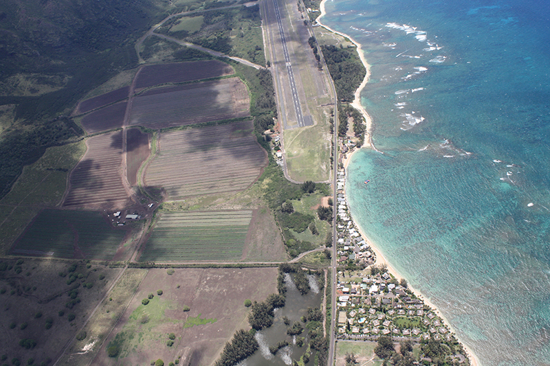 Stretch of shoreline near Dillingham Airport, Oahu.