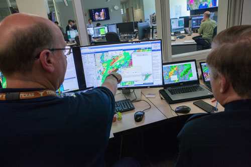 Emergency managers test the lightning prediction model