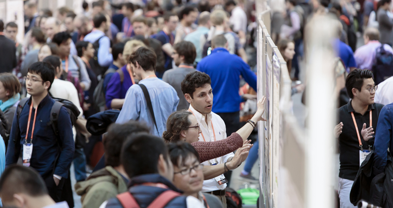 Attendees at the American Geophysical Union's 2017 Fall Meeting, this year in New Orleans, La., crowd the poster hall.