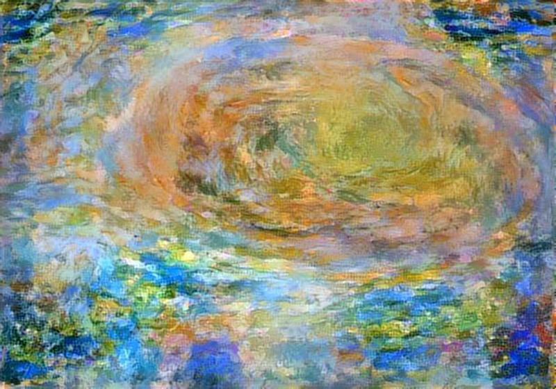 A Monet-inspired rendition of Jupiter's red spot, via JunoCam.
