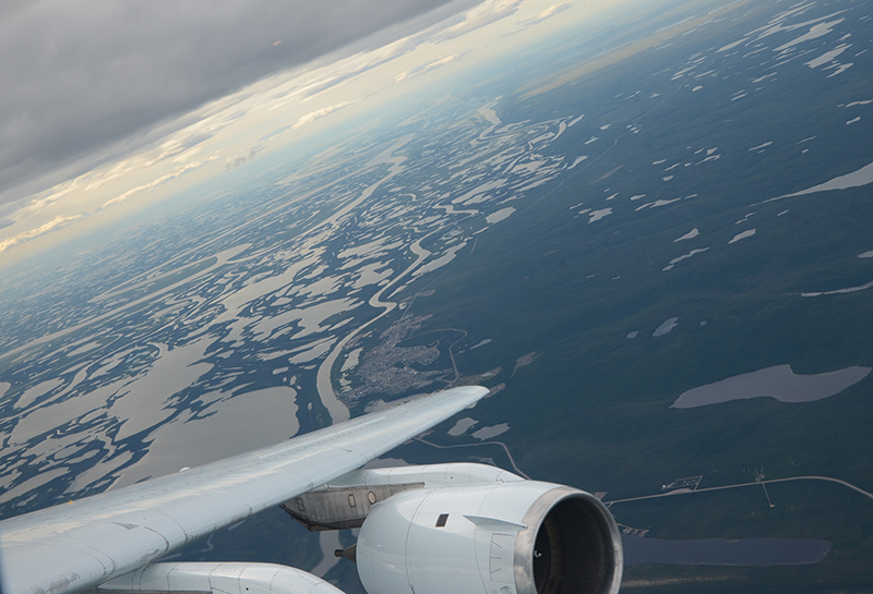 Airborne sampling near Inuvik, Canada, provides a bird's-eye view of CH<sub>4</sub> across a large region.