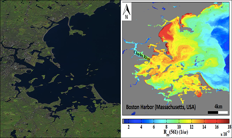 Boston Harbor Landsat 8 and SeaDAS