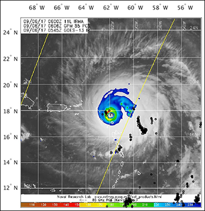 Monitoring Tropical Cyclones With Lightning And Satellite Data Eos - Us-navy-hurricane-tracking-map