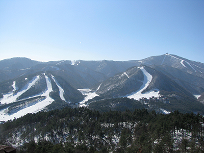 Yongpyong ski resort for 2018 Winter Olympics
