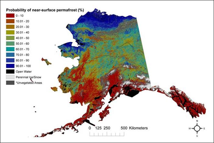 Alaska permafrost coverage