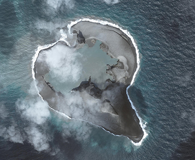 Bogoslof volcano on march 11, 2017