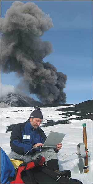 Volcanologist Marco Neri at Mount Etna