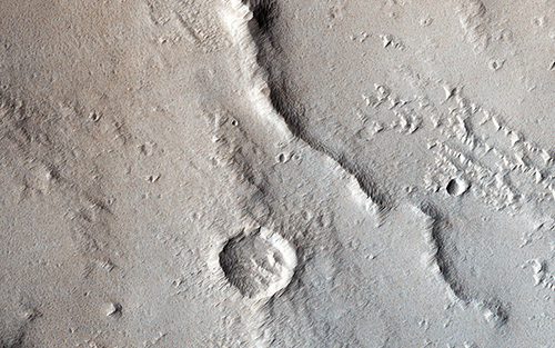 Mars thrust faulting