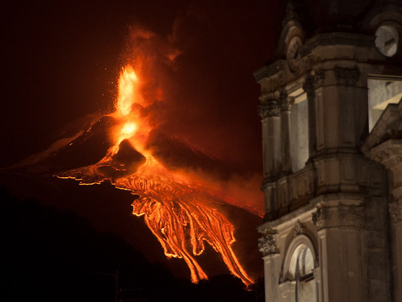 Radon Tells Unexpected Tales of Mount Etna   s Unrest  Eos