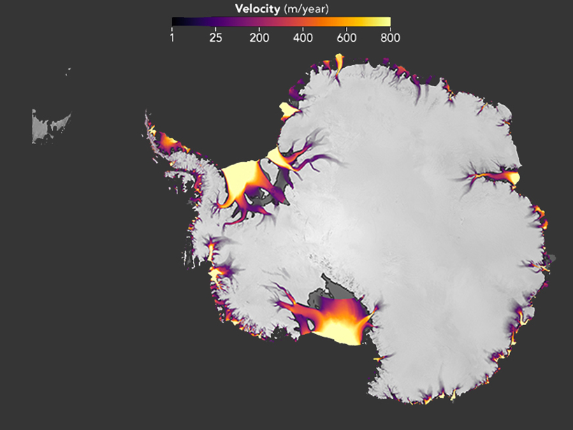 New Maps Highlight Antarctica's Flowing Ice