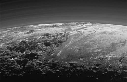 Pluto's ice mountains