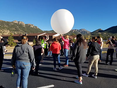 At the 2016 Front Range workshop, PROGRESS students launched a sonde to collect an atmospheric profile.