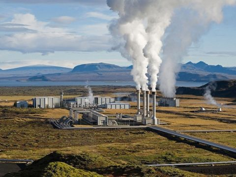 Secondary caption: Nesjavellir Geothermal Power Plant in Þingvellir, Iceland