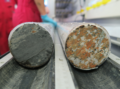 picture of cores were collected from the peak ring of the Chicxulub crater