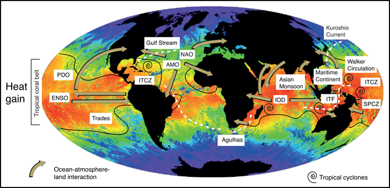 Map of global sea surface temperature