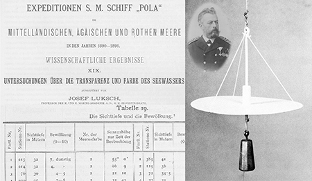 Josef Luksch (1836–1901) was one of the first oceanographers to frequently use the Secchi disk.